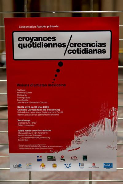Affiche de l'exposition.Création graphique :  Rolegio López Alvarez.www.alexdinamo.com