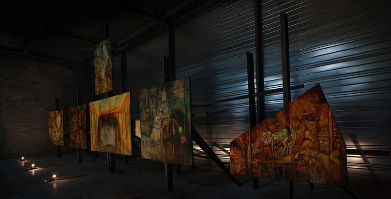 """Atelier ouvert de Christophe Dutriaux<br /> """"Le retable des derniers instants"""""""