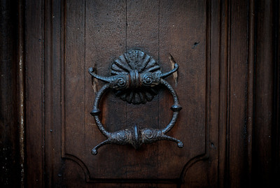 Door knocker in Saint-Paul de Vence, France