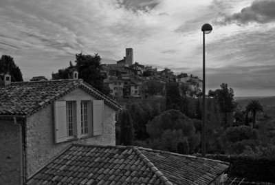 View of Saint-Paul from a trail, France, French Riviera