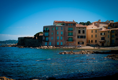 Small bay in St-Tropez, French Riviera, France