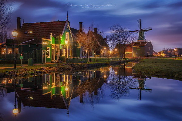 Night at Zaanse Schans