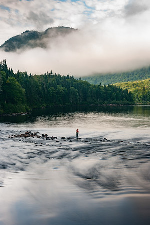 Jacques Cartier River Fisherman