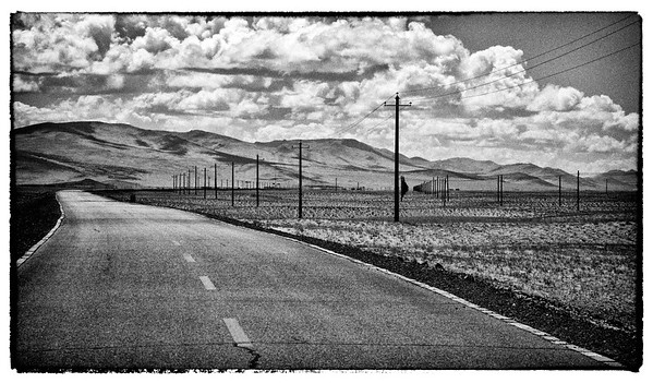 On the road in Tibet