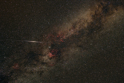 Iridium flare in Cygnus