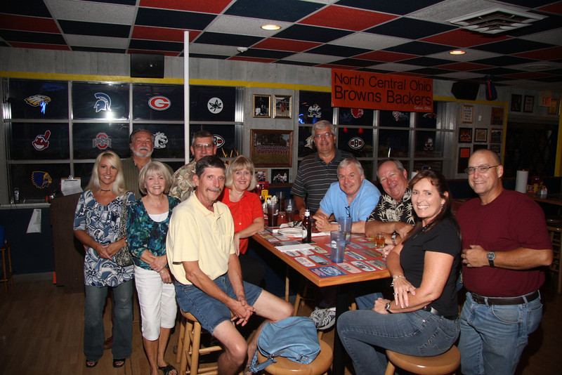 Colleen and Ted, Becky, Bill Hurlow in back ( 0nly six weeks since his bad motorcycle accident), Joe and Janet, Ingemar, Dave Steve, Sheri and Si.  Bill Pancoast had just left on his motorcycle back to Mansfield !