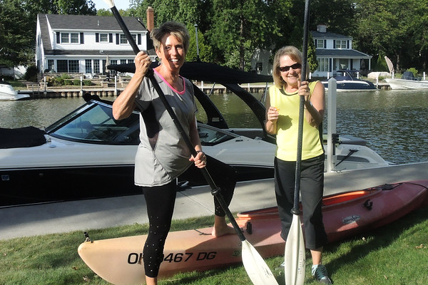 September 15, 2016. High school friends from Galion visiting,; kayaking , here for Lighthouse lighting ceremony and Soda Grille dinner.
