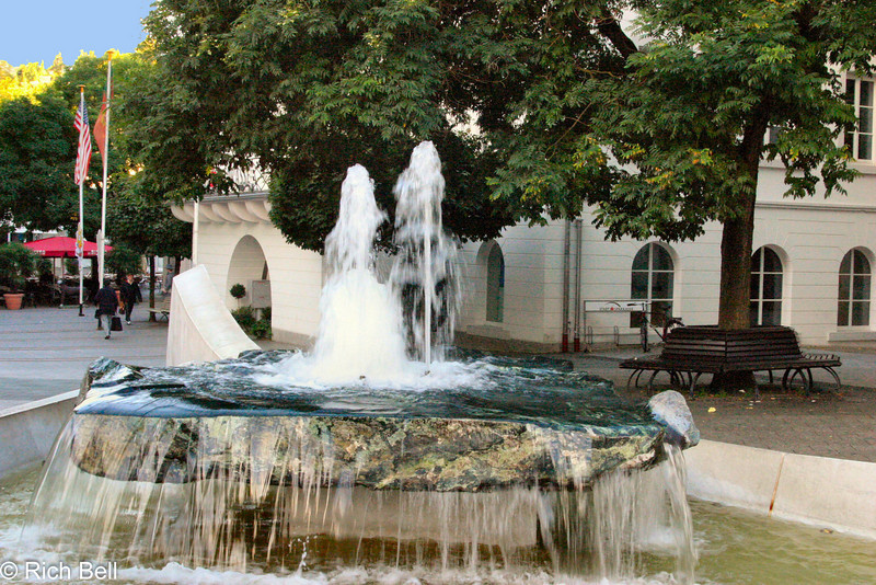 Fountain in Baden Baden Germany A