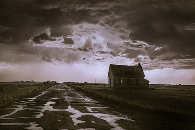 Schoolhouse in the Storm