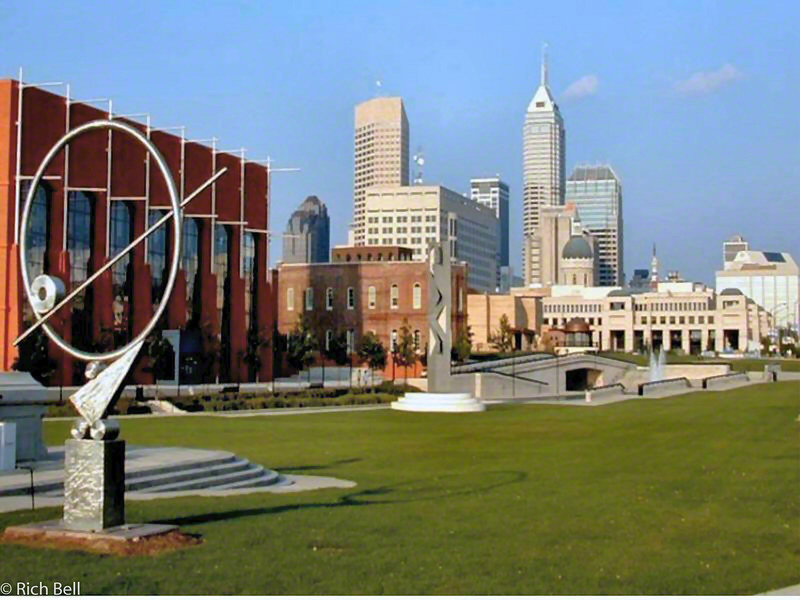 20100721Indianapolis Skyline from NCAA Headquarters at White River A0056