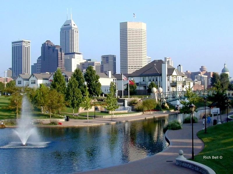 Indianapolis Skyline from Canal picture (2)