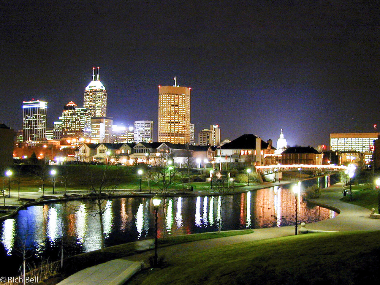 20071125Indianapolis Skyline at Night from St 20 x 15 3000028