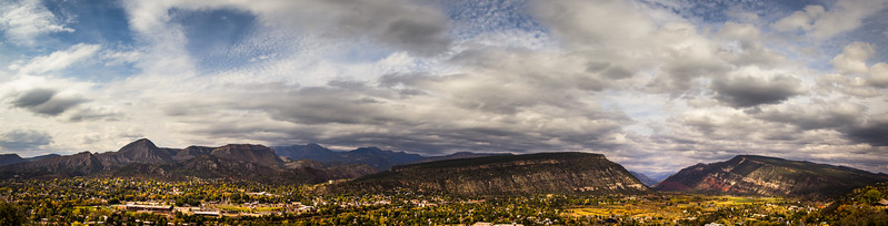 A panorama of Durango, Co. in October