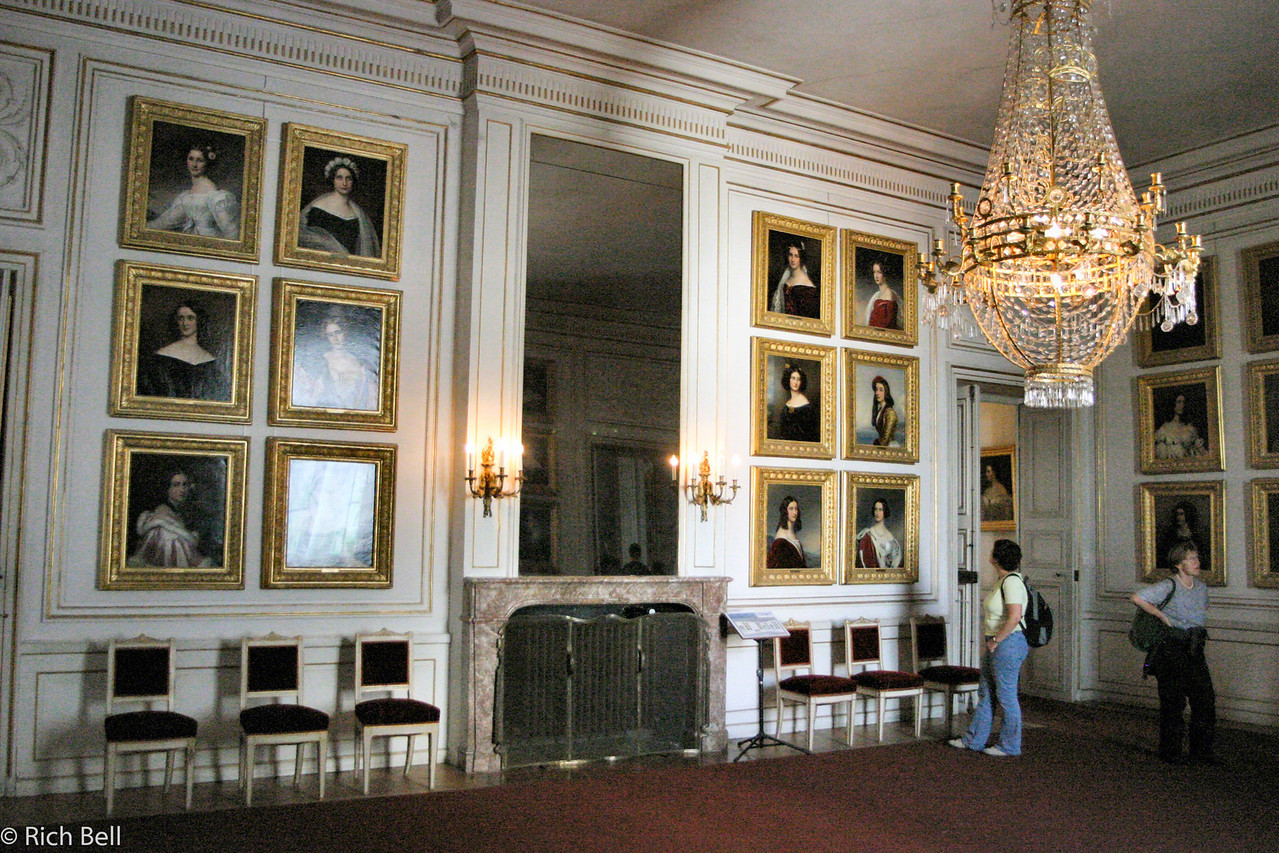 20040913Nymphenburg Palace room of pictures of beatiful women Munich Germany0091