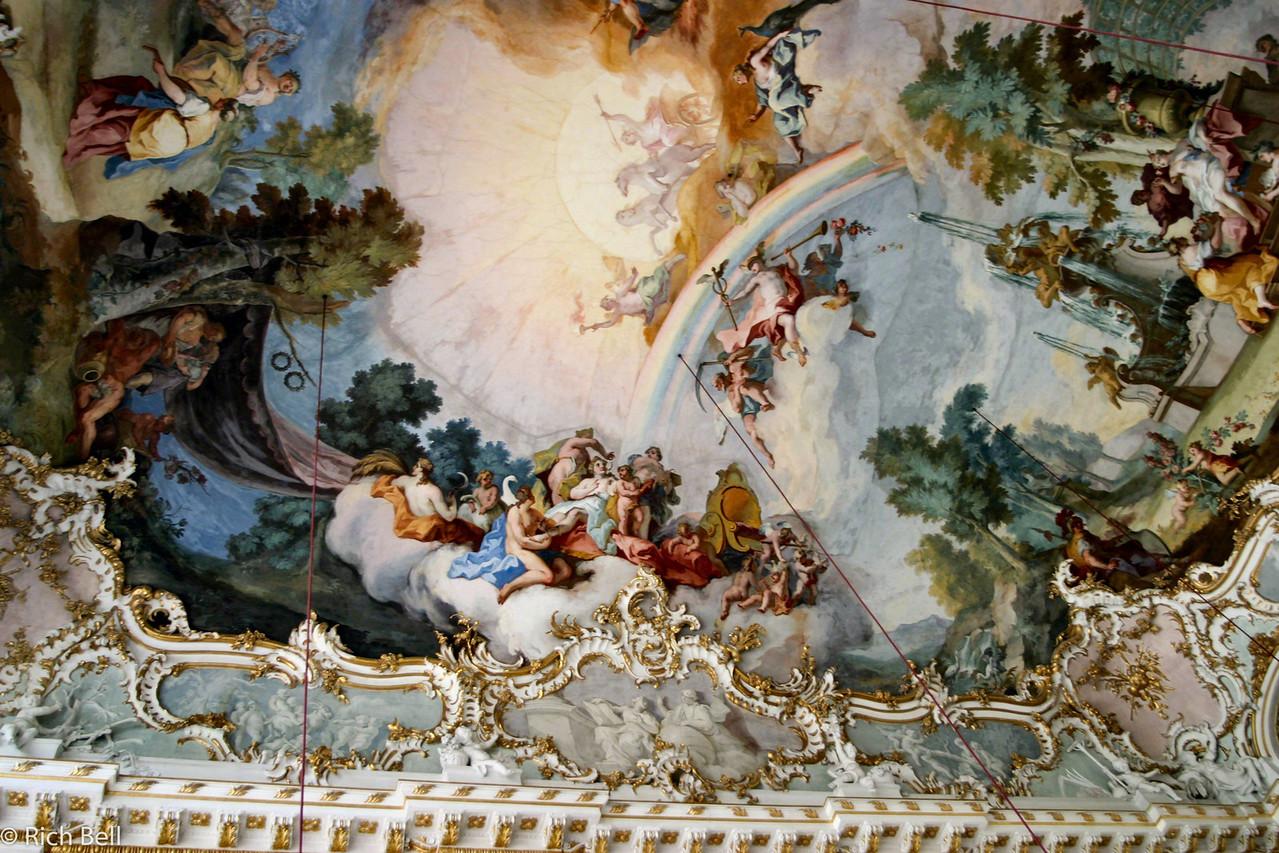 20040913Nymphenburg Palace Ballroom ceiling Munich Germany0081