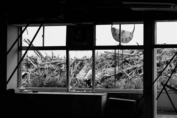 Ukedo Elementary School where the tsunami was damaged still stays. 12th Jun 2013