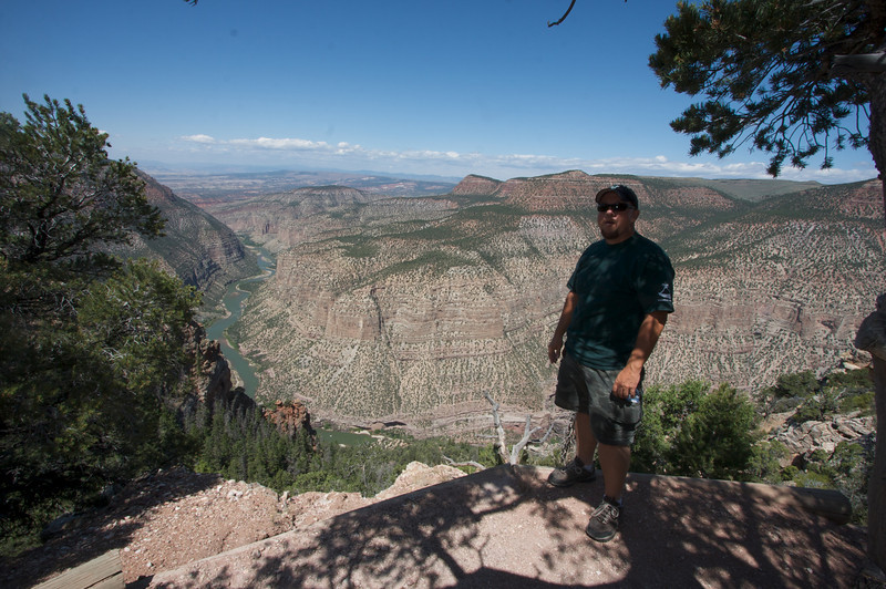 Whilrpool Canyon on Harpers Corner,  With My good friend Ed