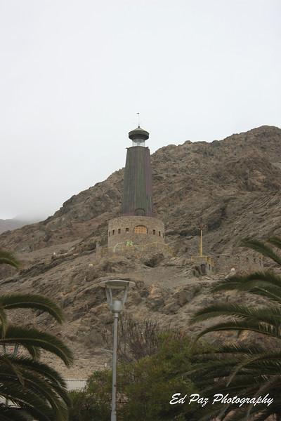 View of Faro del Milenio lighthouse in Chañaral. - Una vista del Faro del Milenio