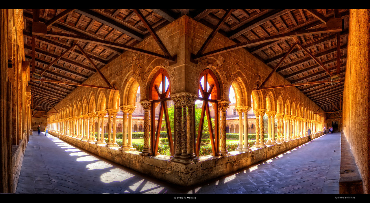 "Le cloître de Monreale Follow me on my -Facebook page:   <a href=""http://www.facebook.com/pages/Girolamos-HDR-Photography/176753345698682"" rel=""nofollow    me"">Girolamo's HDR photos</a> -Google+ page: <a href=""https://plus.google.com/108629717769018996477"" rel=""nofollow    me"">Girolamo Cracchiolo</a> -My Blog: <a href=""http://girolamohdrphotos.wordpress.com/"" rel=""nofollow    me"">Girolamo's HDR Photos - Le blog</a>"