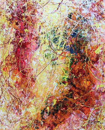 Acrylique et encre sur toile