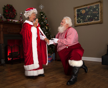 Santa proposes to Mrs Claus