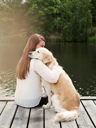 Nelina med sin vän