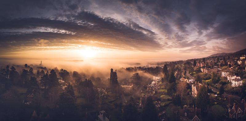 Misty Winter Sunrise - by Jan Sedlacek - www.digitlight.co.uk