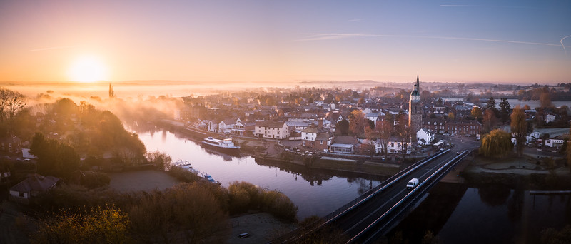 Misty Sunrise over Upton Upon Severn