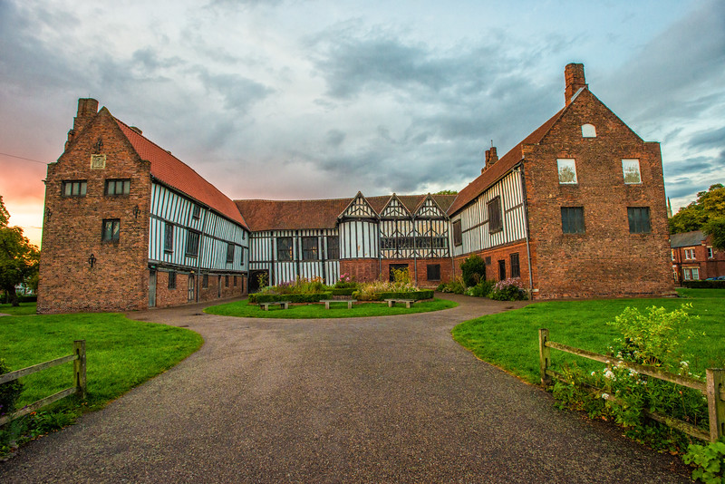 Sunset over gainsbrough old hall