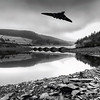 Vulcan flying over ladybower