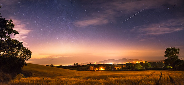 Shooting Star over Malvern Hills