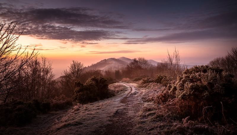 Early Winter Sunrise on Malvern Hills