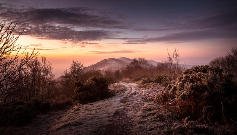Early Winter Sunrise on Malvern Hills