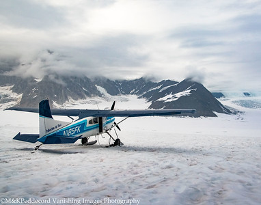 Landing on Ruth Glacier