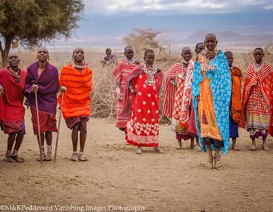 Masai Welcome Amboseli NP Kenya