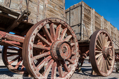 20 mule team wagons  @ Borax Works  BW# 9