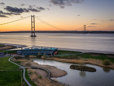 The viewing centre Humber bridge