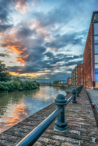 Gainsborough River Side Sunset Looking Over The River  Trent
