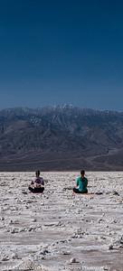 Yoga Class on the Salt Flats