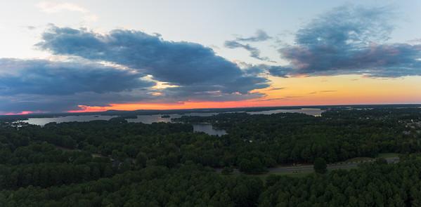 lake norman @1000ft... good day.  #dji #djiphantom4 #dronephotography #lakenorman #nc