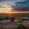 Baslow edge sunset