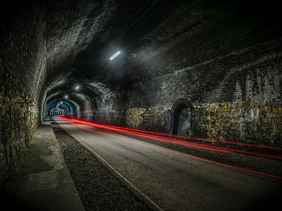 monsal tunnel light trails