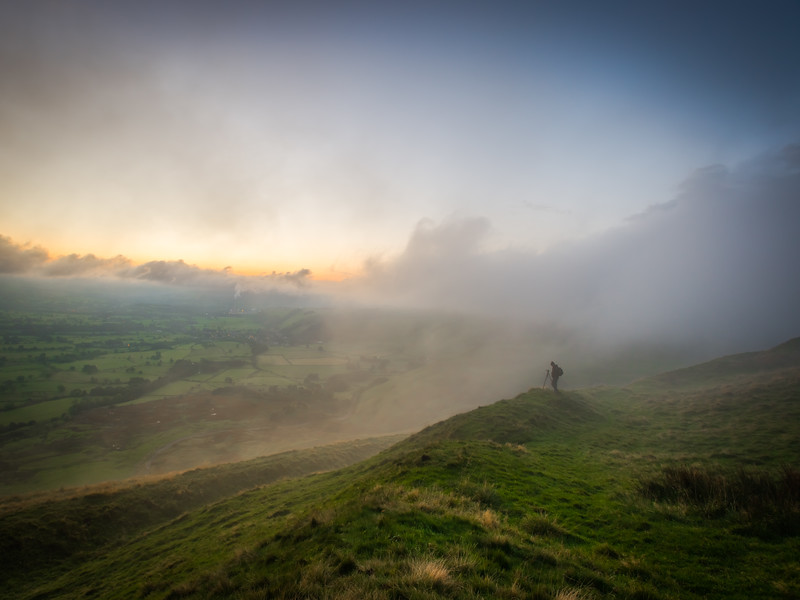 Mam tor looking over hope vally