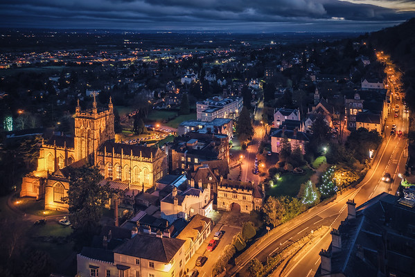 Great Malvern - Twilight by Jan Sedlacek - www.digitlight.co.uk