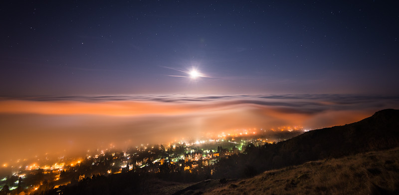 Moonrise over Malvern