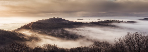 Sunrise over Misty Hills