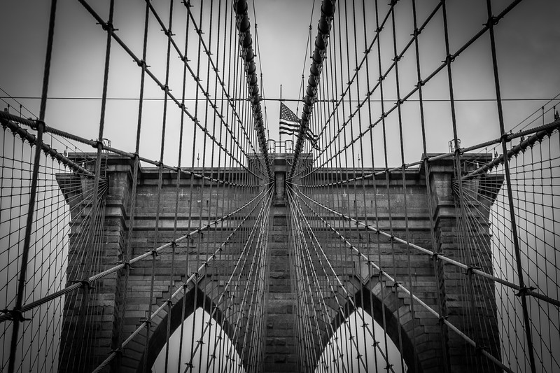 Buttress of the Brooklyn Bridge