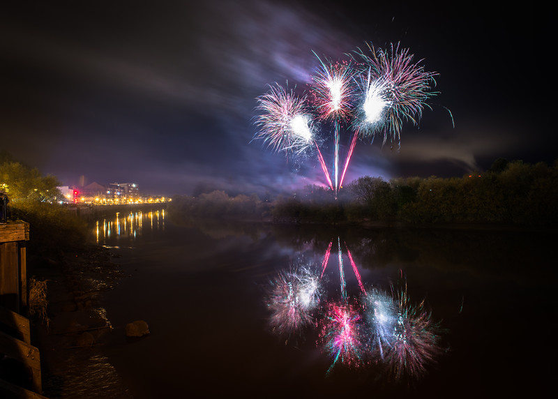 gainsborough riverside fire works