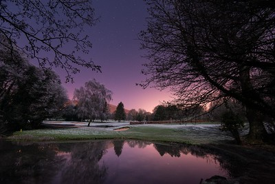 Night on the Frozen Golf Course