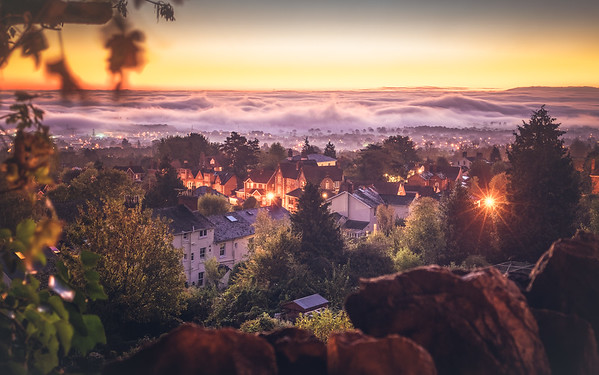Misty Autumn Sunrise - by Jan Sedlacek